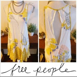 Free People Boho Floral Tunic Dress Flowy